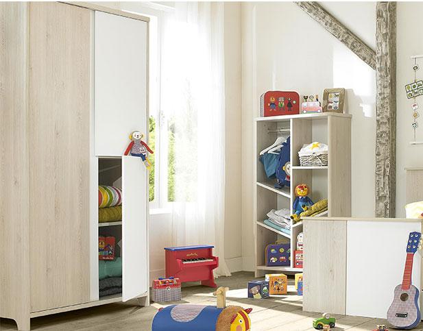 armoire de rangement pour b b sacha de galipette. Black Bedroom Furniture Sets. Home Design Ideas