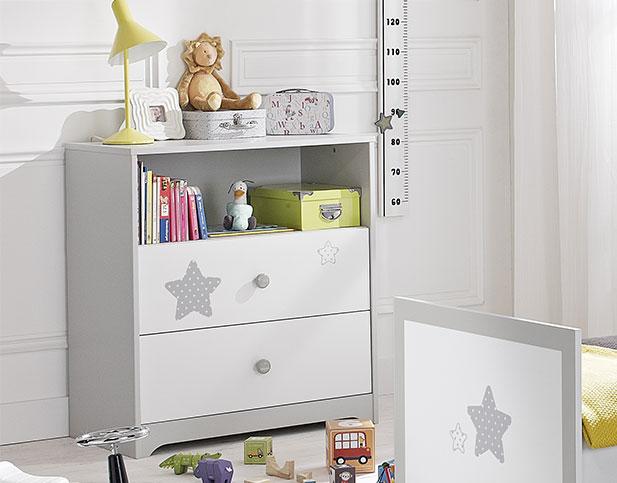 commode deux tiroirs pour b b douce nuit de galipette. Black Bedroom Furniture Sets. Home Design Ideas