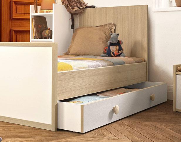tiroir de rangement pour lit enfant moulin roty by galipette. Black Bedroom Furniture Sets. Home Design Ideas