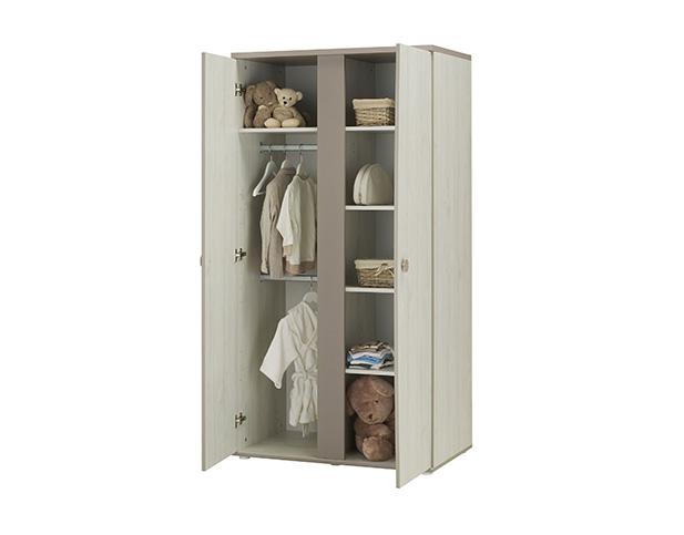 armoire de rangement b b 2 portes l onie de galipette. Black Bedroom Furniture Sets. Home Design Ideas